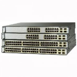 Cisco - WS-C3750-48PS-S-RF - Cisco-IMSourcing Catalyst 3750 48-Port Multi-Layer Ethernet Switch with PoE - 48 x Fast Ethernet Network, 4 x Gigabit Ethernet Expansion Slot - Manageable - 4 Layer Supported - Rack-mountable, Desktop, Wall Mountable