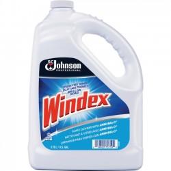 S.C. Johnson & Son - 696503 - Windex Powerized Glass Cleaner Refill - Liquid - 1 gal (128 fl oz) - 1 Each - Blue