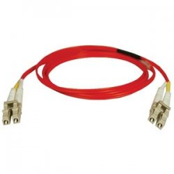 Tripp Lite - N320-02M-RD - Tripp Lite 2M Duplex Multimode 62.5/125 Fiber Optic Patch Cable LC/LC Red 6' 6ft 2 Meter - LC Male - LC Male - 6.56ft - Red