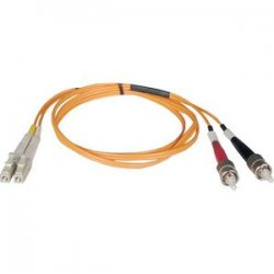 Tripp Lite - N518-02M - Tripp Lite 2M Duplex Multimode 50/125 Fiber Optic Patch Cable LC/ST 6' 6ft 2 Meter - LC Male - ST Male - 6.56ft - Orange