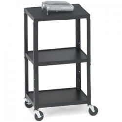Bretford - A2642-P5 - Bretford A2642-P5 Height Adjustable A/V Cart - Steel - Black