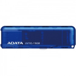 A-DATA Technology - AUV110-16G-RBL - Adata DashDrive UV110 Charming Color Retractable USB Flash Drive - 16 GB - USB 2.0 - Blue - Retractable
