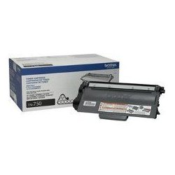 Brother International - TN750 - Brother TN750 - High Yield - black - original - toner cartridge - for Brother DCP-8110, 8150, 8155, HL-5440, 5450, 5470, 6180, MFC-8510, 8710, 8910, 8950