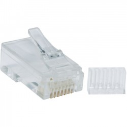 Tripp Lite - N230-100 - Tripp Lite Cat6 Gigabit RJ45 Modular Connector Plug w/ Load Bar 100 Pack - 100 Pack - 1 x RJ-45 Male - Gold-plated Contacts