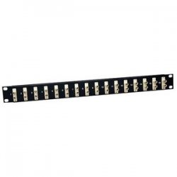 Tripp Lite - N490-016-STST - Tripp Lite 16-Port Fiber Patch Panel 62.5/125 or 50/125 ST/ST 1URM - 16 x ST