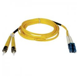 Tripp Lite - N368-30M - Tripp Lite 30M Duplex Singlemode 8.3/125 Fiber Optic Patch Cable LC/ST 100' 100ft 30 Meter - LC Male - ST Male - 100ft - Yellow