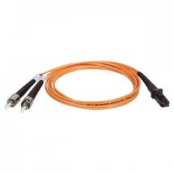 Tripp Lite - N308-08M - Tripp Lite 8M Duplex Multimode 62.5/125 Fiber Optic Patch Cable MTRJ/ST 26' 26ft 8 Meter - MT-RJ Male - ST Male - 26.25ft - Orange