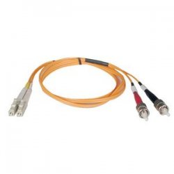 Tripp Lite - N318-08M - Tripp Lite 8M Duplex Multimode 62.5/125 Fiber Optic Patch Cable LC/ST 26' 26ft 8 Meter - ST Male - LC Male - 26.25ft - Orange