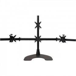 Ergotech - 100-D28-B13 - Ergotech Quad LCD Monitor Desk Stand - 28 pole - Black - Quad 1 over 3