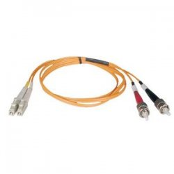 Tripp Lite - N518-03M - Tripp Lite 3M Duplex Multimode 50/125 Fiber Optic Patch Cable LC/ST 10' 10ft 3 Meter - LC Male - ST Male - 9.84ft - Orange