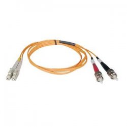 Tripp Lite - N518-15M - Tripp Lite 15M Duplex Multimode 50/125 Fiber Optic Patch Cable LC/ST 50' 50ft 15 Meter - LC Male - ST Male - 49.21ft - Orange