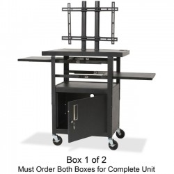 Best-Rite / MooreCo - 27530 - Balt Adjustable Height Flat Panel TV Cart Box 1 of 2 - Up to 42 Screen Support - 2 x Shelf(ves) - 62 Height x 24 Width x 18 Depth - Steel - Black