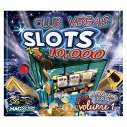 Selectsoft Publishing - LGCV10MS1J - Selectsoft Club Vegas Slots 10,000 Volume 1 - Entertainment Game - Jewel Case - Retail - Mac, Intel-based Mac