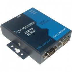 Brainboxes - US-313 - Brainboxes US-313 - USB 2 Port RS422/485 1MBaud - External - USB - PC, Mac, PC