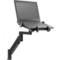 Innovative Office Products - 7000-T-500HY-104 - Innovative Mounting Arm for Notebook, Monitor - 14 lb Load Capacity - Vista Black