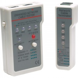 IntelliNet - 351898 - Manhattan Multifunction RJ45/RJ11 Cable Tester - Tests shielded and unshielded LAN cable