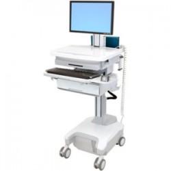 Cybernet Manufacturing - SVPHD-D100 - Cybernet PHD LCD Cart, 1 Drawer - 1 Drawer - 39 lb Capacity - 21.4 Width x 34.5 Depth x 48.6 Height