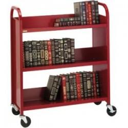 Bretford - L330-TZ - Bretford Duro L330-TZ Book Cart - 3 Shelf - Round Handle - 4 Caster Size - Steel - 36 Width x 14 Depth x 43 Height - Metallic Topaz