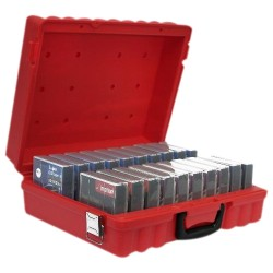 Turtle Cell - 00-672801 - Turtle DLT - 20 Capacity - High-density Polyethylene (HDPE) - Red - 20 Tape Cartridge