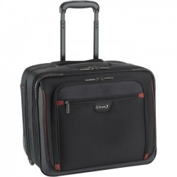 Solo Cases - STL905-4U2 - Solo Sterling Carrying Case (Roller) for 16 Notebook - Black, Red - Polyester - Handle - 14 Height x 16 Width x 9.5 Depth