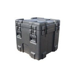 "SKB Cases - 3R2424-24B-L - SKB 3R Roto Molded Waterproof Case with Layered Foam - Internal Dimensions: 24"" Width x 24"" Depth x 24"" Height - 59.84 gal - Latching Closure - Polyethylene - Black - For Military"