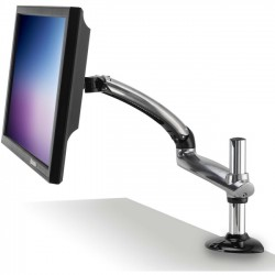 Ergotech - FDM-PC-S01 - Ergotech Freedom Arm for PC - Silver - Clamp Mount - Single