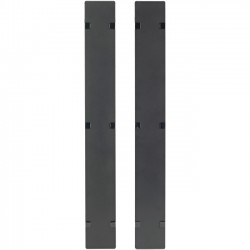 APC / Schneider Electric - AR7586 - APC by Schneider Electric Hinged Covers for NetShelter SX 750mm Wide 45U Vertical Cable Manager (Qty 2) - Cover - Black - 2 Pack - 45U Rack Height