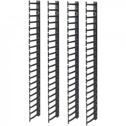 APC / Schneider Electric - AR7717A - APC by Schneider Electric Vertical Cable Manager for NetShelter SX Networking Enclosures (Qty 4) - Cable Pass-through - Black - 4 Pack - 42U Rack Height