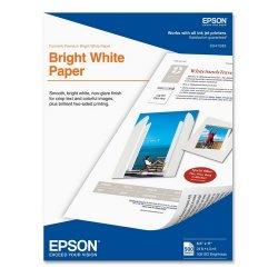 "Epson - S041586 - Epson Premium Inkjet Paper - Letter - 8.50"" x 11"" - 90 g/m² Grammage - Ultra Smooth - 108 Brightness - 500 / Box - Bright White"
