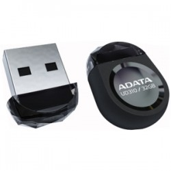 A-DATA Technology - AUD310-32G-RBK - Adata DashDrive Durable UD310 Jewel Like USB Flash Drive - 32 GB - USB 2.0 - Black - Water Resistant, Impact Resistant