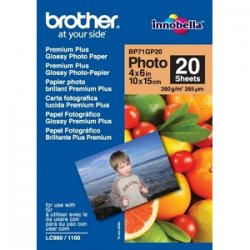 Brother International - BP71GP20 - Brother Photo Paper - 3 15/16 x 5 29/32 - Glossy