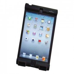 Seal Shield - SBUMPERIM - Seal Shield Bumper Case iPad Mini - Antimicrobial Product Protection - iPad mini - Black - Silicone