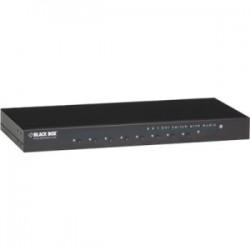 Black Box Network - AVSW-DVI8X1 - Black Box 8 x 1 DVI Switch with Audio - 1920 x 1200 - WUXGA - 8 x 11 x DVI Out