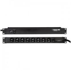 Black Box Network - SP472A-R2 - Black Box 8 Outlets Rack-mountable Power Strip - NEMA L5-20P - 8 NEMA 5-15R Surge-protected - 15ft