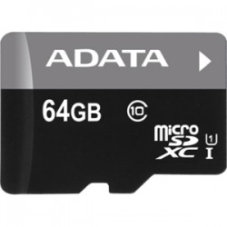 A-DATA Technology - ASDX64GUICL10-B - Adata Premier 64 GB microSDXC - Class 10/UHS-I - 50 MB/s Read - 1 Card - Bulk