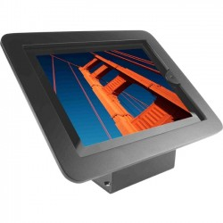 Compulocks Brands - 101B213EXENB - iPad 2/3/4/Air/Air2 Secure Executive Enclosure with 45? Kiosk Black - Black