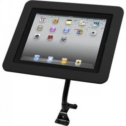 Compulocks Brands - 159B213EXENB - iPad 2/3/4/Air/Air2/iPad Pro 9.7 Secure Executive Enclosure with Flex Arm Kiosk Black - Metal - Black