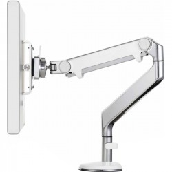 Humanscale - M8CB-W - Humanscale Crossbar for Flat Panel Display - Polished, White