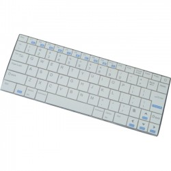Inland Products - 71108 - Inland iOS Apple 7 Bluetooth Keyboard - Wireless Connectivity - Bluetooth - 80 Key - Compatible with Computer (iOS) - White