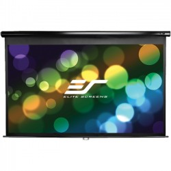 Elite Screens - M106UWH-E24 - Elite Screens M106UWH-E24 Manual Ceiling/Wall Mount Manual Pull Down Projection Screen (106 16:9 Aspect Ratio) (MaxWhite) - 52 x 92.4 - MaxWhite