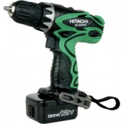 "Hitachi - DS12DVF3 - Hitachi 12V 3/8"" Driver Drill Kit with Flashlight - Driver Drill - 0.38"" Chuck"