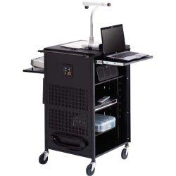 Bretford - TCP23FF-BK - Bretford Basics PAL Series TCP23FF Multimedia Presentation Cart - Flat Panel Display Type Supported - 41 Height x 23 Width x 23 Depth - Floor - Steel - Black