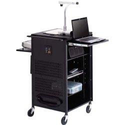 Bretford - TCP23-BK - Bretford Basics PAL Series TCP23FF Multimedia Presentation Cart - 41.8 Height x 25.5 Width x 22.8 Depth - Steel - Black