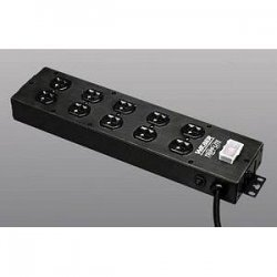 Tripp Lite - UL800CB-15 - Tripp Lite Waber Power Strip 120V 5-15R 10 Outlet Metal 15' Cord 5-15P - NEMA 5-15P - 10 NEMA 5-15R - 15ft