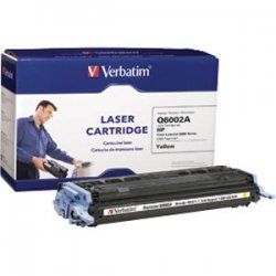 Verbatim / Smartdisk - 95475 - Verbatim HP Q6002A Yellow Remanufactured Laser Toner Cartridge - TAA Compliant - Yellow - Laser - 2000 Page - OEM