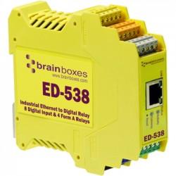 Brainboxes - ED-538 - Brainboxes ED-538 Ethernet To Digital IO RelayIO Relay