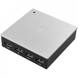 SIIG - AC-PW0G11-S1 - SIIG 4-Port USB Power Charger - 110 V AC, 220 V AC Input Voltage - 5 V DC Output Voltage - 2.40 A Output Current