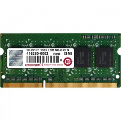 Transcend - TS256MSK72V3N - Transcend 2GB DDR3 SDRAM Memory Module - 2 GB (1 x 2 GB) - DDR3 SDRAM - 1333 MHz - 1.50 V - ECC - Unbuffered - 204-pin - SoDIMM