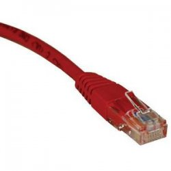 Tripp Lite - N002-003-RD - Tripp Lite 3ft Cat5e / Cat5 350MHz Molded Patch Cable RJ45 M/M Red 3' - 3ft - 1 x RJ-45 Male - 1 x RJ-45 Male - Red