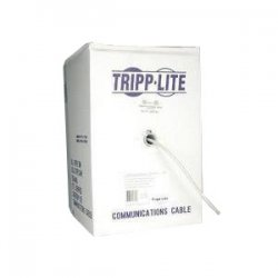 Tripp Lite - N024-01K - Tripp Lite 1000ft Cat5e Cat5 350MHz Bulk Solid-Core Plenum Rated Cable Blue 1000' - 1000ft